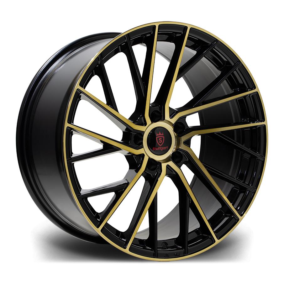 SF15 Satin Black Gold Polished Angle